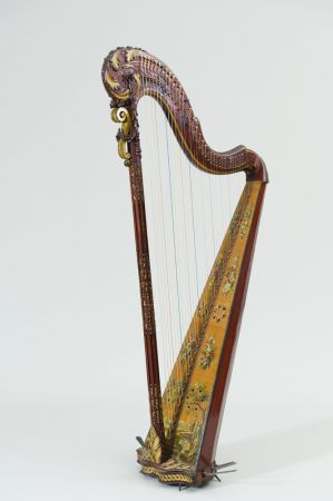 Instrument de musique : Harpe à simple mouvement, Paris